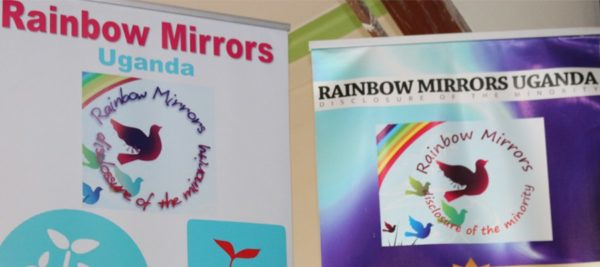 Banners for Rainbow Mirrors. (Photo courtesy of Kuchu Times)