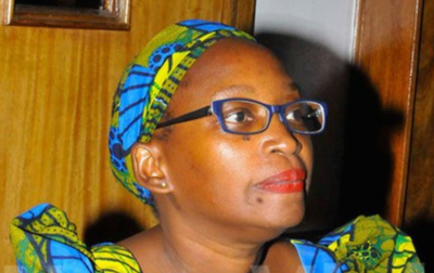 Stella Nyanzi at court session on April 9, 2019. (Photo courtesy of New Vision)