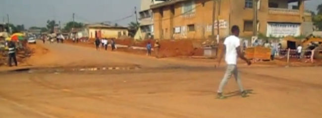 The Bouba intersection in Yaoundé, where Miss Porshia was attacked. (Photo courtesy of dailymotion.com)