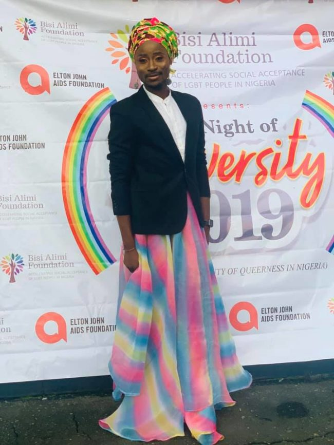 Bisi Alimi at Diversity Pride Night. (Photo Source: Facebook)