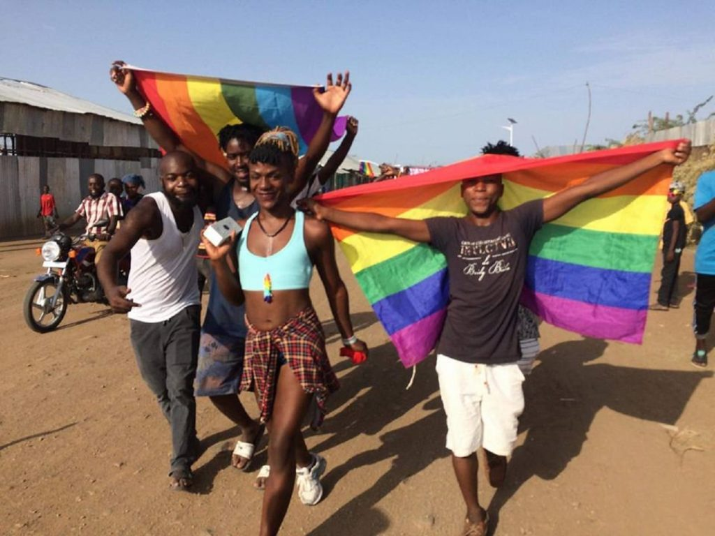 A gay pride event in Kakuma Camp in 2018. (Pink News photo)