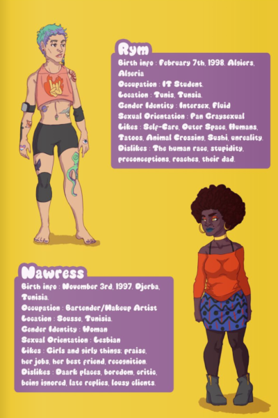 "The end of the comic features in-depth profiles of the ""Queer Squad"" characters."