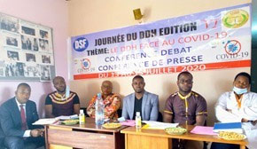 Panel discussion / press conference on Human RIghts Defenders Day in Cameroon. (African Human Rights Media Network photo)