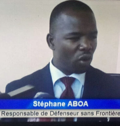 Stéphane Aboa, executive coordinator of Défenseurs Sans Frontières (Defenders Without Borders), interviewed by Equinox TV.