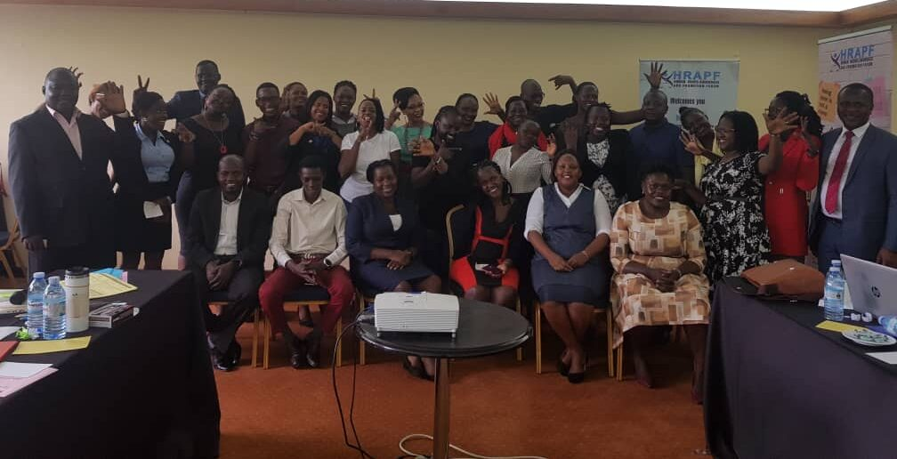 Members of the Ugandan petty offences coalition fighting against vagrancy laws, hosted by the Human Rights Awareness and Promotion Forum (HRAPF).