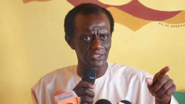 In videos, Mame Matar Gueye, the leader of JAMRA, urges the Senegalese population to exterminate homosexuals.(Photo courtesy of Xibar.net)