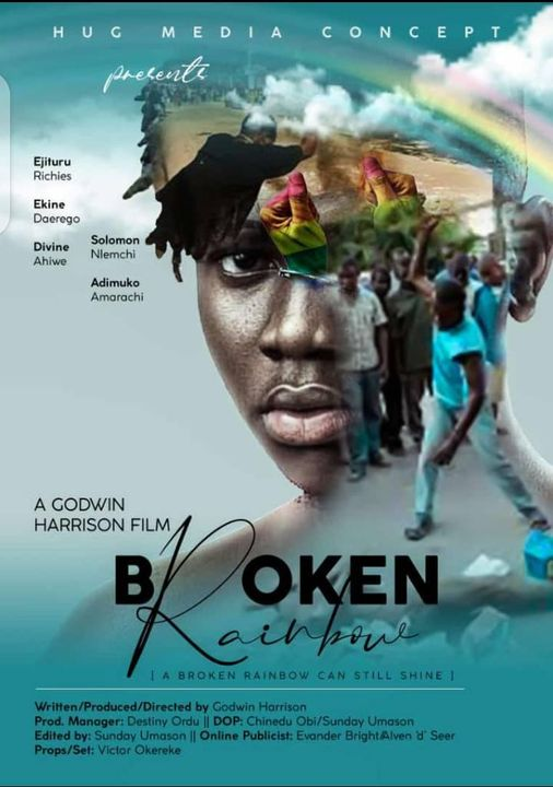 """Promotional poster for the film """"Broken Rainbow""""."""